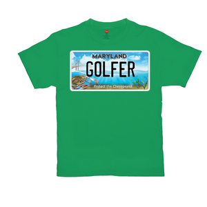 Maryland Bay Plate Golfer T-Shirts