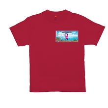 Load image into Gallery viewer, Chesapeake Bay Plate Breast Cancer Support two sided logo T-Shirts