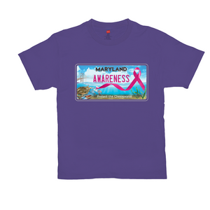 Chesapeake Bay Plate Breast Cancer Awareness T-Shirts