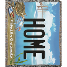 "Load image into Gallery viewer, Bay Plate ""Home"" Woven Blankets"
