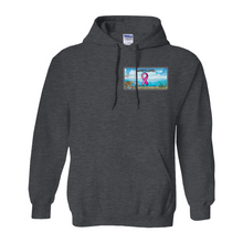 Load image into Gallery viewer, Chesapeake Bay Plate Breast Cancer Awareness Hoodie two sided logo Hoodies (No-Zip/Pullover)