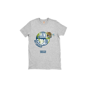 Think Globally Act Locally two sided  T-Shirts