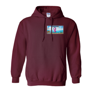 Chesapeake Bay Plate Breast Cancer Awareness Hoodie two sided logo Hoodies (No-Zip/Pullover)
