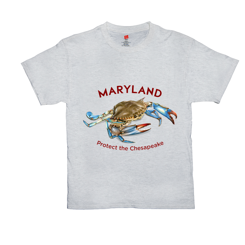 Bright Colored Maryland Protect the Chesapeake T-Shirts