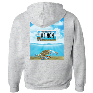 Mother's Day Bay Plate #1 Mom Hoodies (Zip-up)