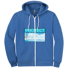 Load image into Gallery viewer, Protect the Chesapeake/ Our Bay front and back Hoodies (Zip-up)