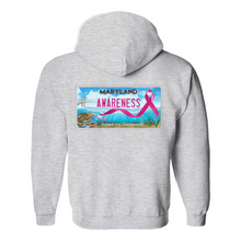 Load image into Gallery viewer, Chesapeake Bay Plate Breast Cancer Strength back logo Hoodies (No-Zip/Pullover)