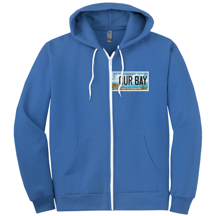 Our Bay / Protect the Chesapeake front and back Hoodies (Zip-up)