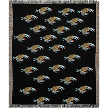 Load image into Gallery viewer, Black Maryland Crab Woven Blankets