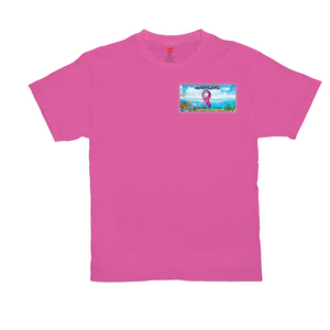 Chesapeake Bay Plate Breast Cancer Awareness two sided logo T-Shirts