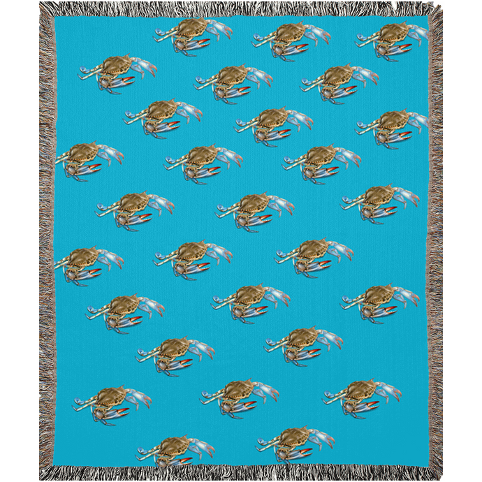 Blue Crab Woven Blankets