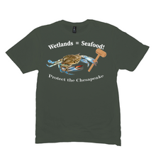 Load image into Gallery viewer, Wetlands=Seafood T-Shirt