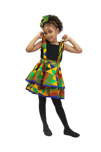 MICHELLE AFRICAN PRINT PINAFO DRESS