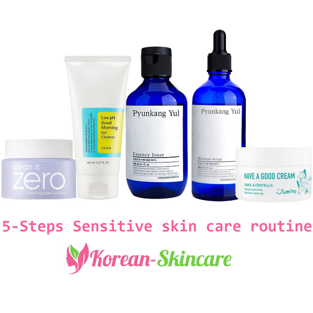 5-Steps Sensitive skin care routine