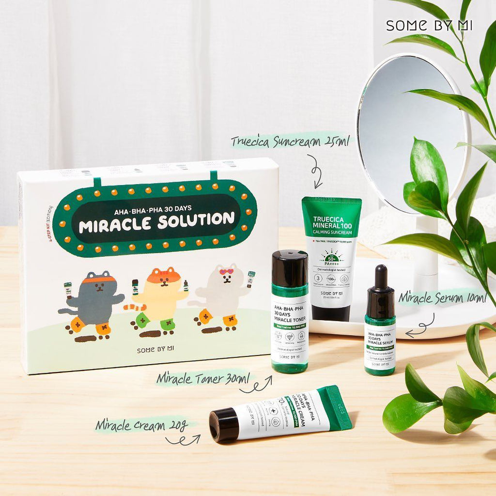 Some By Mi AHA BHA PHA 30 Days Miracle Solution 4-Step Kit – Korean-Skincare