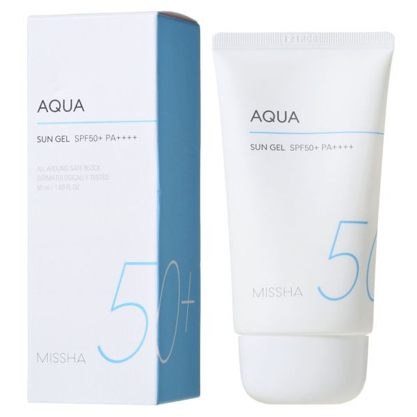 Missha All-around Safe Block Aqua Sun Gel SPF50+/PA+++ - Korean-Skincare