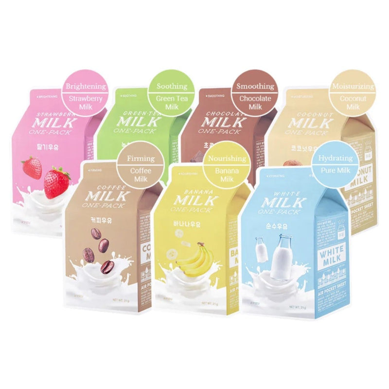 Apieu Milk One Pack #Banana Milk - Korean-Skincare