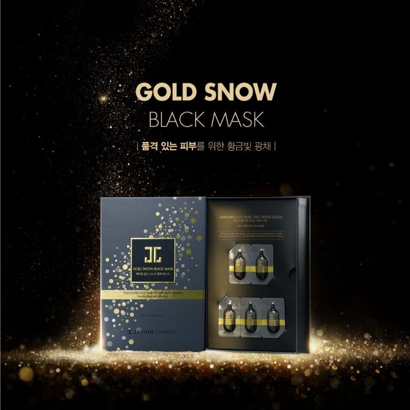 Gold Snow Black Mask
