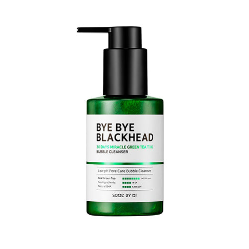 Some By Mi Bye Bye Blackhead 30 Days Miracle Green Tea Tox Bubble Cleanser - Korean-Skincare