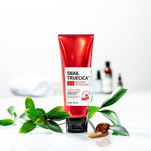 Some By Mi Snail Truecica Miracle Repair Low pH Gel Cleanser - Korean-Skincare