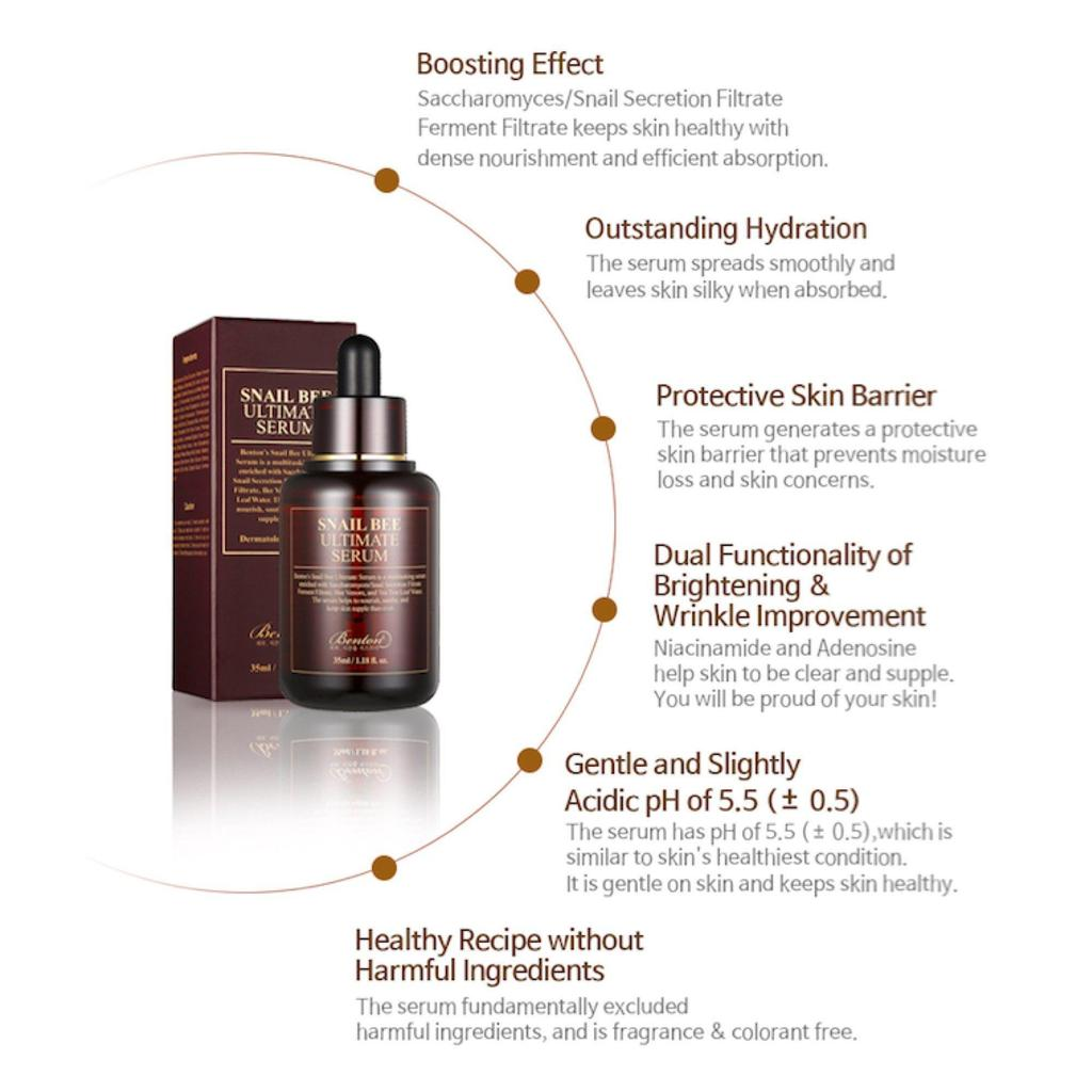 Benton Snail Bee Ultimate Serum - Korean-Skincare