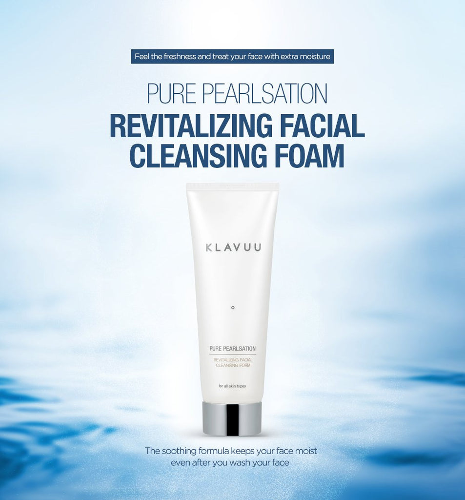 Klavuu PURE PEARLSATION Revitalizing Facial Cleansing Foam - Korean-Skincare