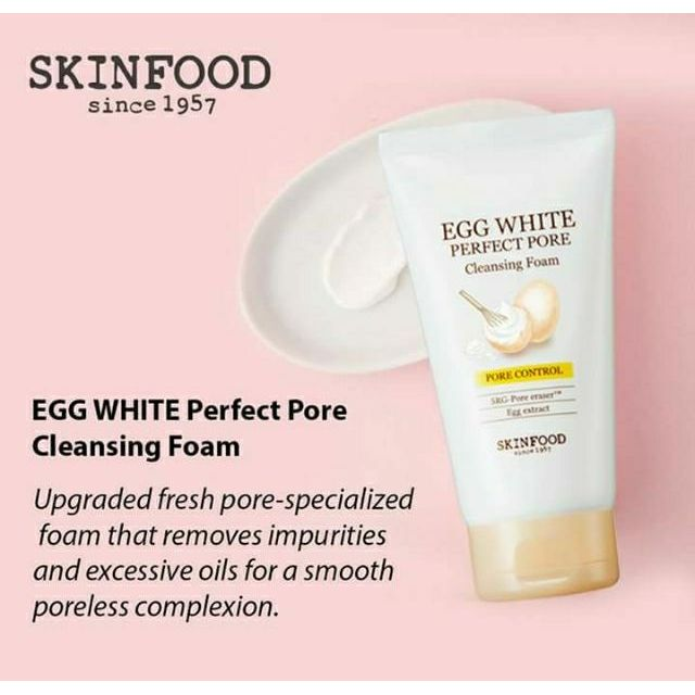 Skinfood Egg White Perfect Pore Cleansing Foam - Korean-Skincare