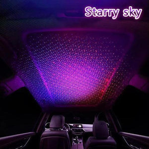USB Car Atmosphere Lamp Starry Sky Interior Ambient Star Light