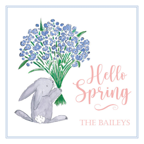 Hello Spring Bunny Gift Tag