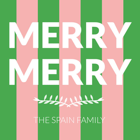 Merry Merry Pink and Green