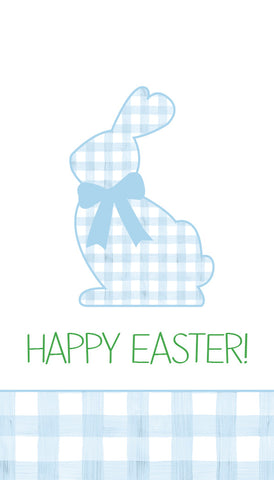 Non-Personalized Blue Gingham Bunny Hangtag
