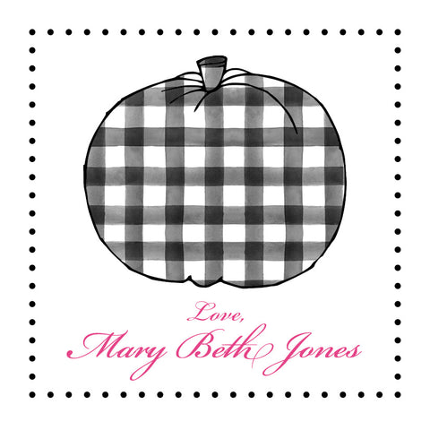 Black Gingham Pumpkin