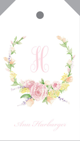 Watercolor floral spray hangtag