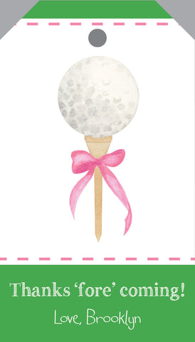 Golf Favor Tag {pink and blue colorway}