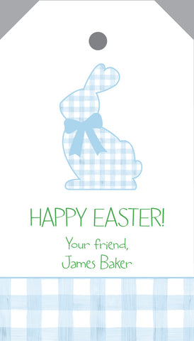 Gingham Easter Bunny {pink or blue}