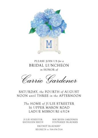 Hydrangea Bridal Invitation