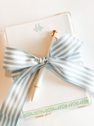 Scallop Notepad {blue and green}