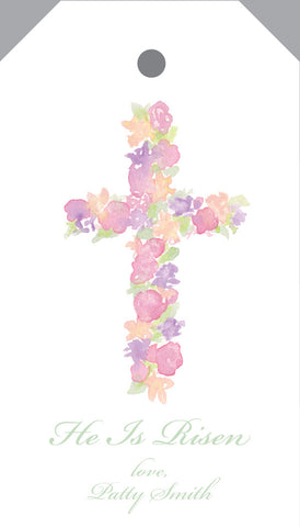 Floral Cross Hangtag
