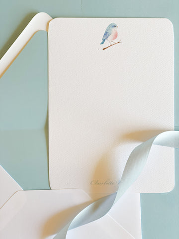 Watercolor Bird Stationery