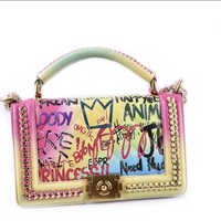 DaVinci Rainbow Graffiti Bag
