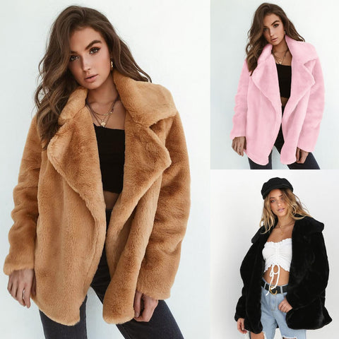 Soft Plush Women's Jackets