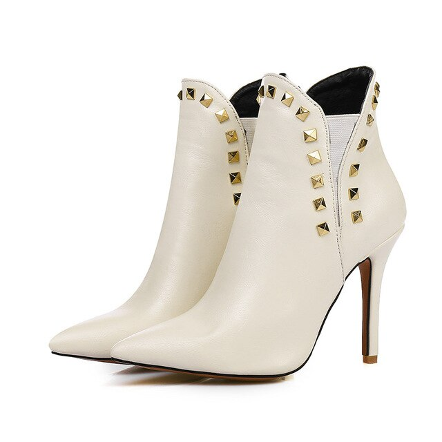 Gold Riveted Booties