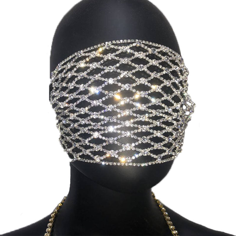 Mesh Shiny DaVinci Doll Facemask COVER