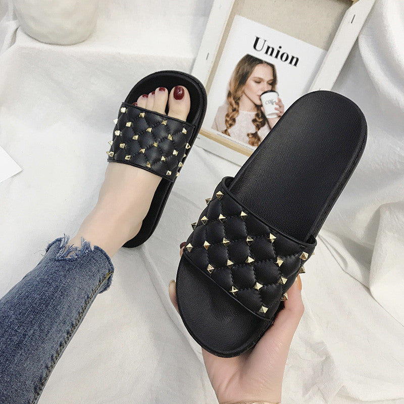 Women Rivet Summer Slippers