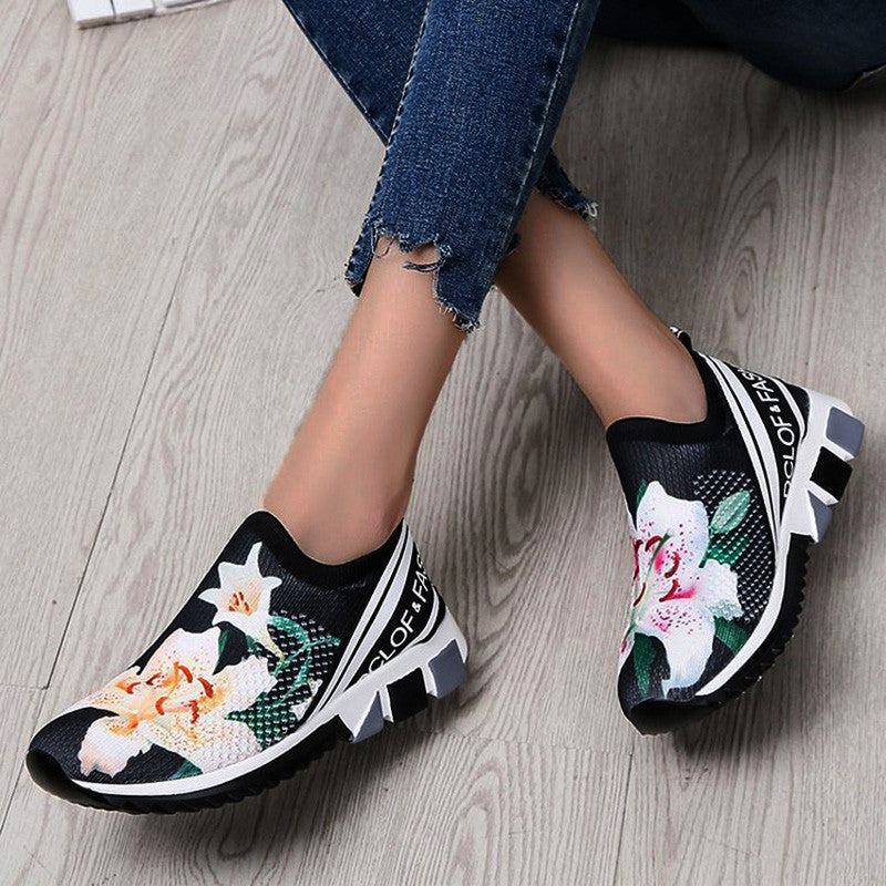 Women Flower Printed Shoes