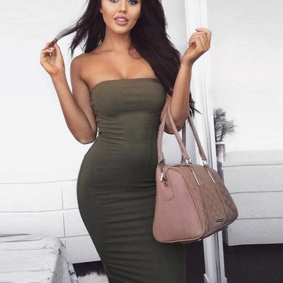 Shoulder Strapless Women Party Dress