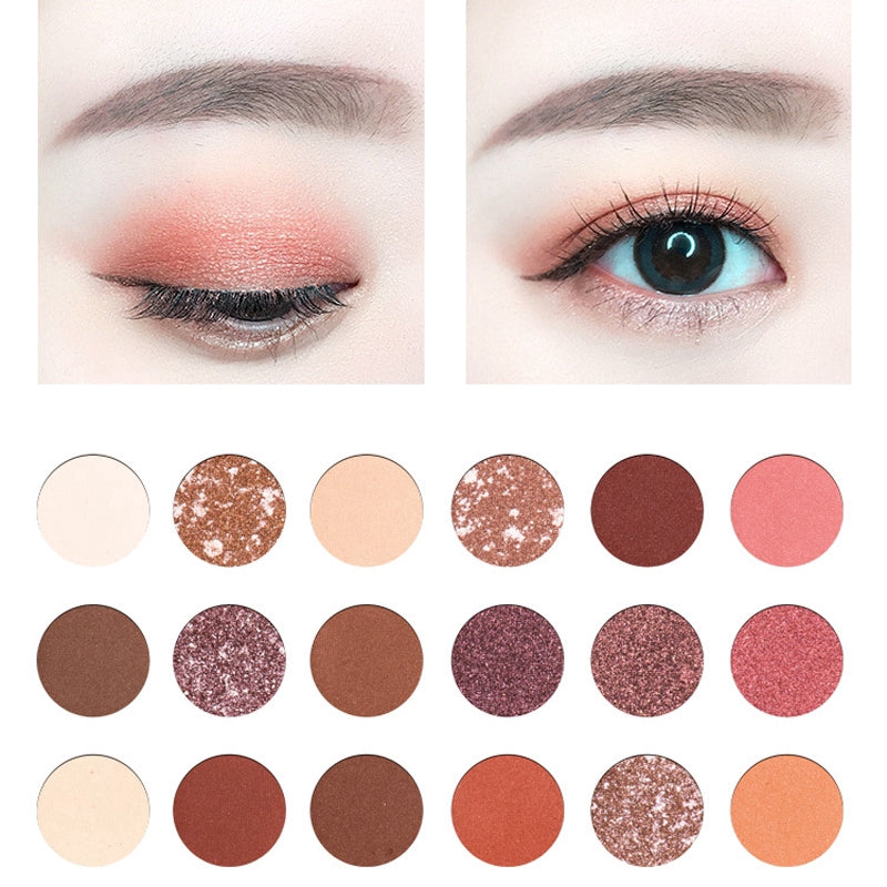 18 Colors Rose Red Eye Shadow Pallete