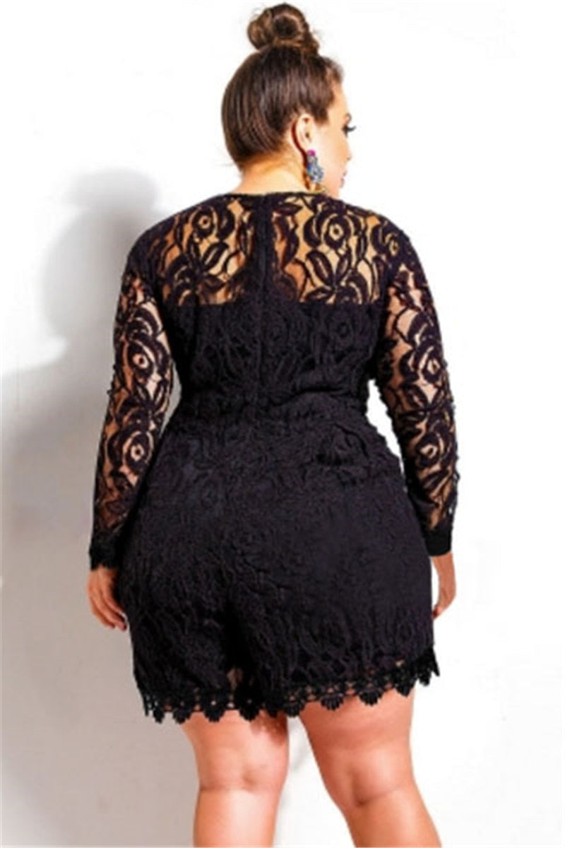 Plus Lace Romper
