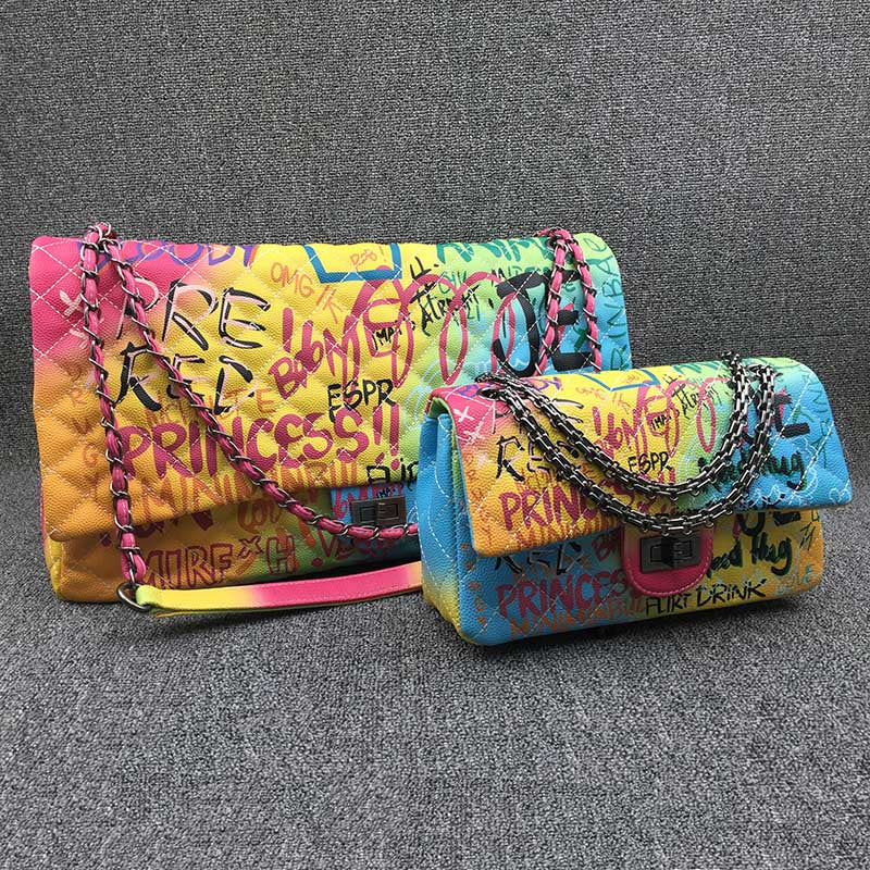 Colorful Rainbow Graffiti Bags