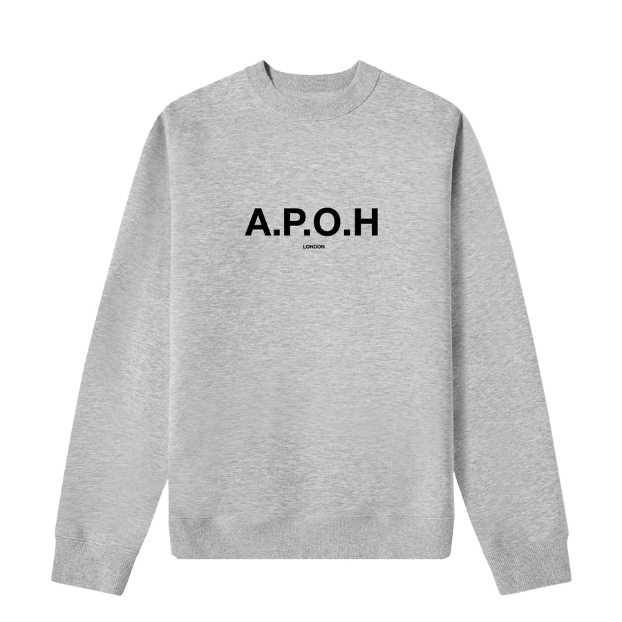 APOH LOGO GREY SWEAT
